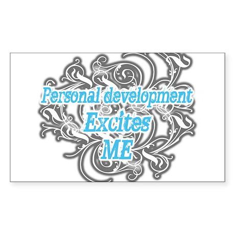 Personal development excites Rectangle Sticker