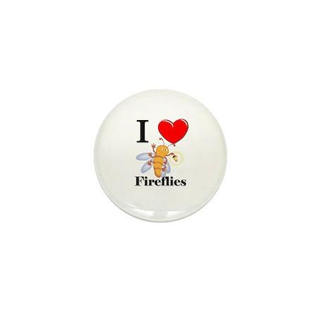 I Love Fireflies Mini Button