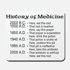 History of Medicine Mousepad