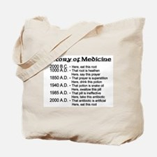 History of Medicine Tote Bag