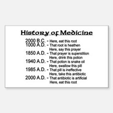 History of Medicine Rectangle Decal