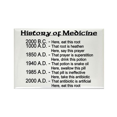 History of Medicine Rectangle Magnet