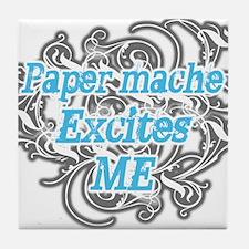 Paper mache Excites Me Tile Coaster