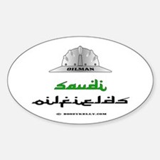 Saudi Oilfields Oval Decal