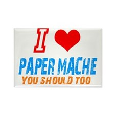 I love Paper mache Rectangle Magnet (10 pack)