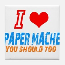 I love Paper mache Tile Coaster
