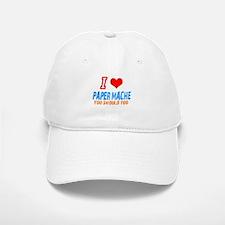 I love Paper mache Baseball Baseball Cap