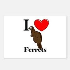 I Love Ferrets Postcards (Package of 8)