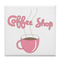 Coffee Shop Tile Coaster
