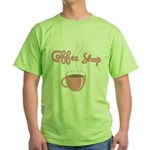 Coffee Shop Green T-Shirt