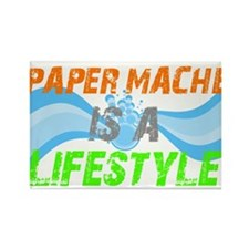 Paper Mache is a lifestyle Rectangle Magnet