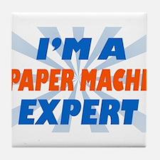 im a paper mache expert Tile Coaster