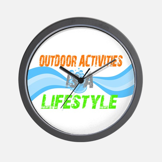 Outdoor activities Lifestyle Wall Clock