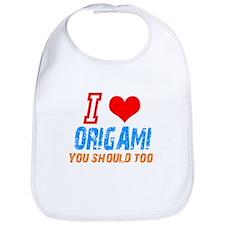 I love Origami Bib
