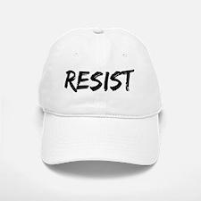 Resist In Black Text Baseball Baseball Cap