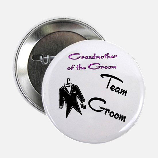 """Grandmother of the Groom Butt 2.25"""" Button"""
