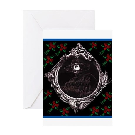 Phantom (with Red Roses) ~ Greeting Card