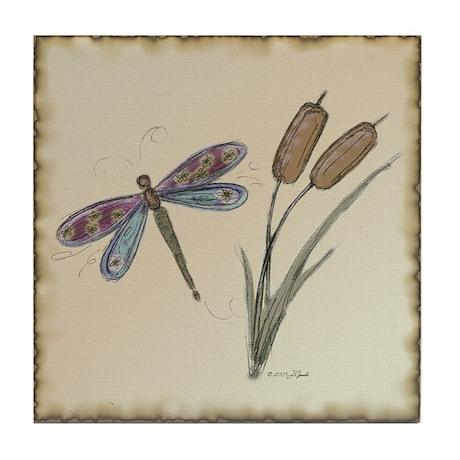 Dragonfly 4 Tile Coaster