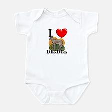 I Love Dik-Diks Infant Bodysuit
