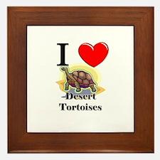 I Love Desert Tortoises Framed Tile