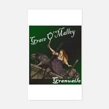 Grace O'Malley (Granuaille) Rectangle Decal