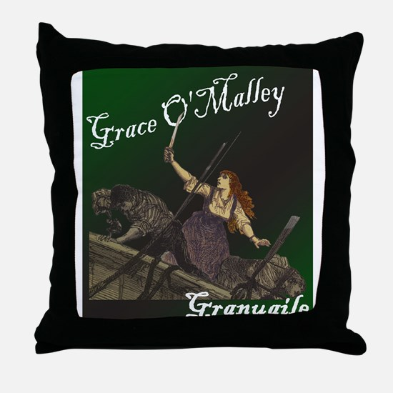 Grace O'Malley (Granuaille) Throw Pillow