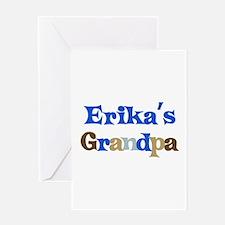 Erika's Grandpa Greeting Card