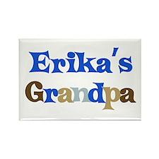 Erika's Grandpa Rectangle Magnet