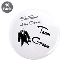 """Stepfather of the Groom Butto 3.5"""" Button (10"""