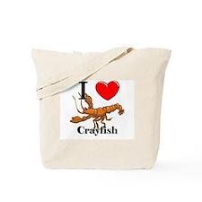I Love Crayfish Tote Bag