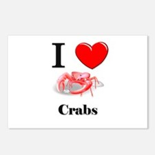 I Love Crabs Postcards (Package of 8)