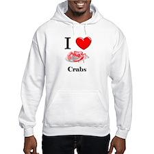 I Love Crabs Hoodie