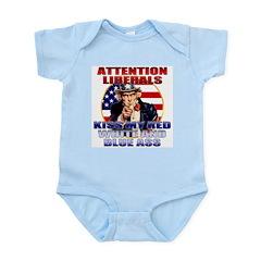 Uncle Sam Anti Liberal Infant Creeper