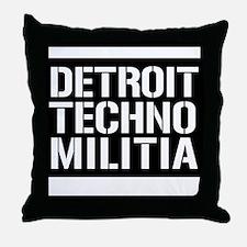 Detroit Techno Militia Throw Pillow