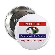 """Republic MO Flag 2.25"""" Button"""