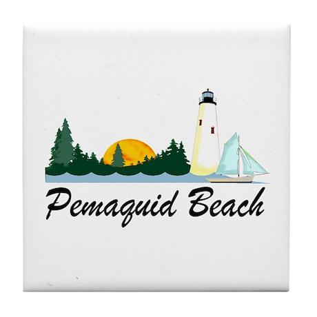 Pemaquid Beach Tile Coaster