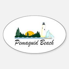Pemaquid Beach Oval Decal