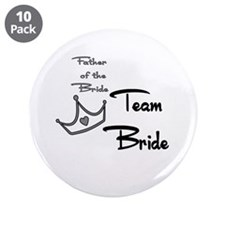 """Father of the Bride Buttons 3.5"""" Button (10 p"""