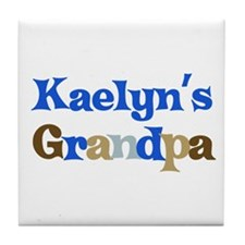 Kaelyn's Grandpa Tile Coaster