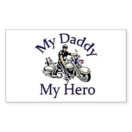 Police My Daddy My Hero Rectangle Sticker
