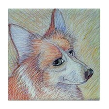 Pembroke Welsh Corgi Tile Coaster 2