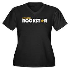 Attorney Rockstar 2 Women's Plus Size V-Neck Dark
