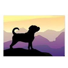 Purple Mountains Puggle Postcards (Package of 8)