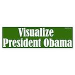 Vizualize President Obama bumper sticker
