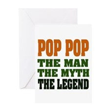 POP POP - the legend Greeting Card