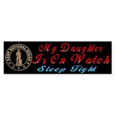 My Daughter Is On Guard Bumper Car Sticker