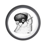 Helmet Shortface Pigeon Wall Clock