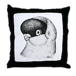 Helmet Shortface Pigeon Throw Pillow