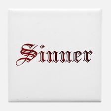 Unique Sinner Tile Coaster
