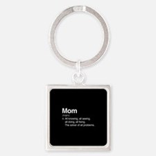 Mom Solver Of All Problems Square Keychain